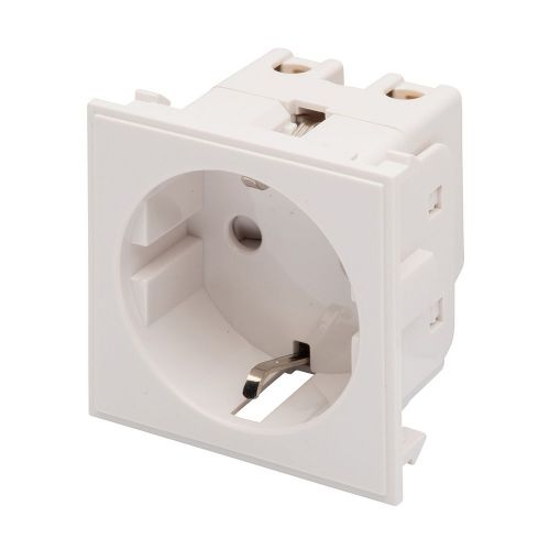 RT 16A SCHUKO Socket (50mmX50mm) White 09020